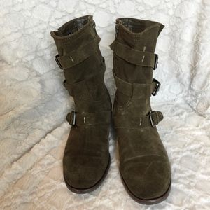 DV by Dolce Vita Ferin Suede Buckle Boots